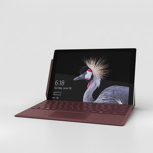 3D microsoft surface 2017 model