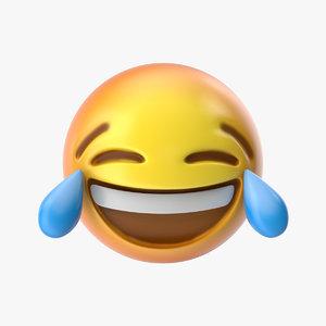 3D emoji 3 face tears model