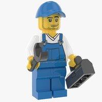 3D model lego repairman