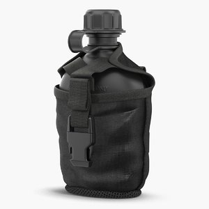 3D water bottle canteen military