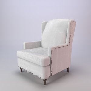 chair wingback charles 3D model