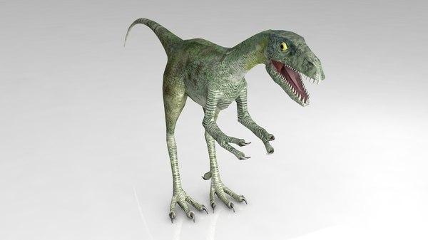 velociraptor dinosaur 3D
