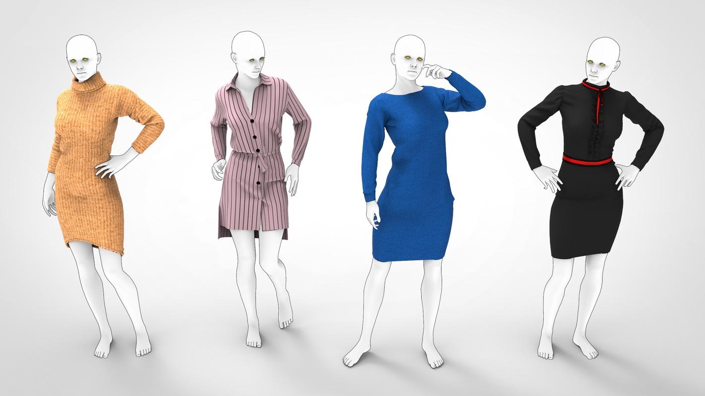 3D mannequin woman dress