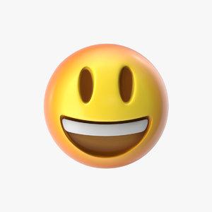 emoji 5 grinning face 3D model