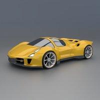 sportscar concept model