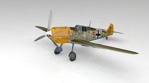 3D bf109e german airplane
