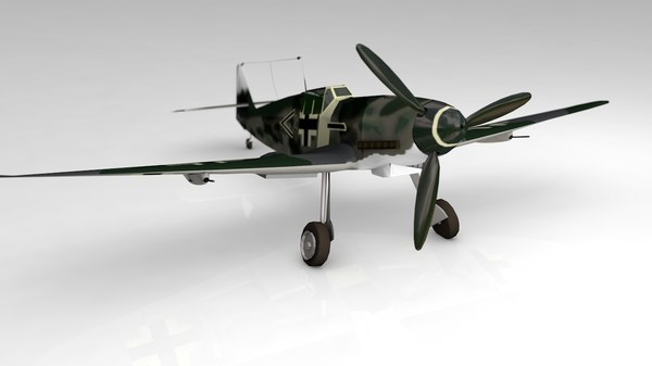 3D bf109g german airplane