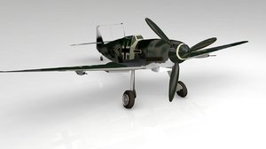 3D bf109g german airplane