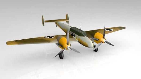 messerschmitt bf110f 3D model