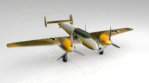 messerschmitt bf110f 3D model