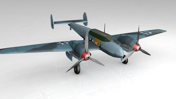 bf110g2 german fighter messerschmitt 3D model