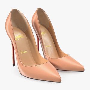 christian louboutin women shoes 3D model