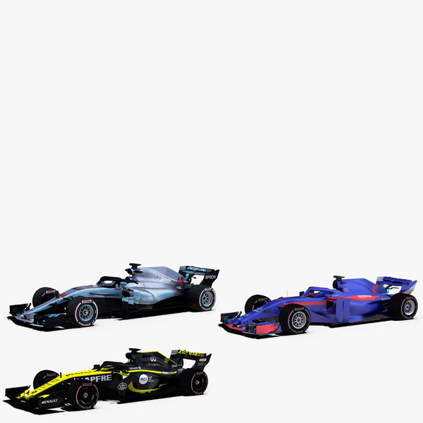 3D 3 formula 2018 cars model