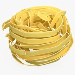 3D uncooked pasta nest model