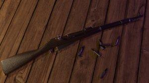 mosin-nagant soviet m38 rifle 3D