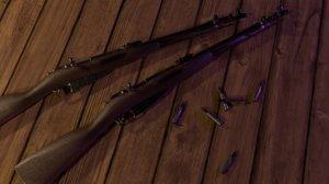 mosin-nagant soviet m44 rifle 3D