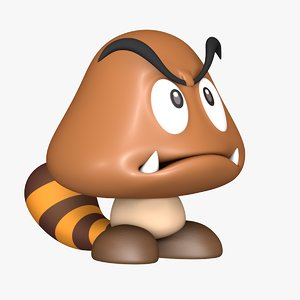 tail goomba super mario 3D model