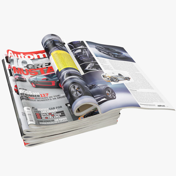 realistic magazines open set 3D model