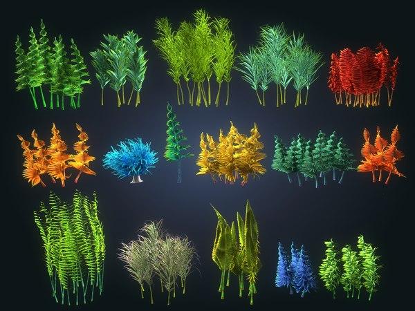 3D plants ocean - alien