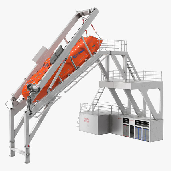 freefall lifeboat launching mechanism model