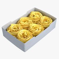 3D pasta nests set model