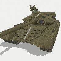 3D model t-64bv tank ready