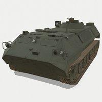 3D mt-lbu soviet ready model