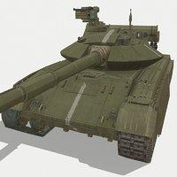 3D bulat tank soviet model