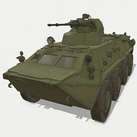 russian armored carrier 3D model