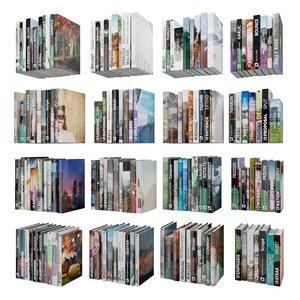3D shelve bookcase