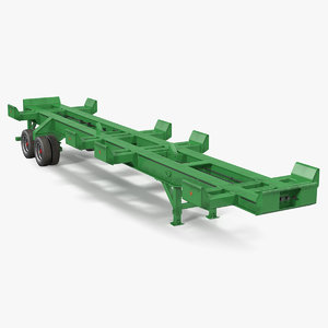 3D container trailer generic model