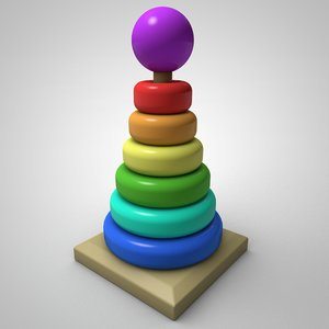 3D ring toy stacked