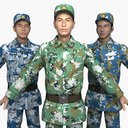 The collection of China Soldiers' Training Clothes