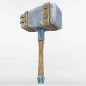 hammer ancient 3D model