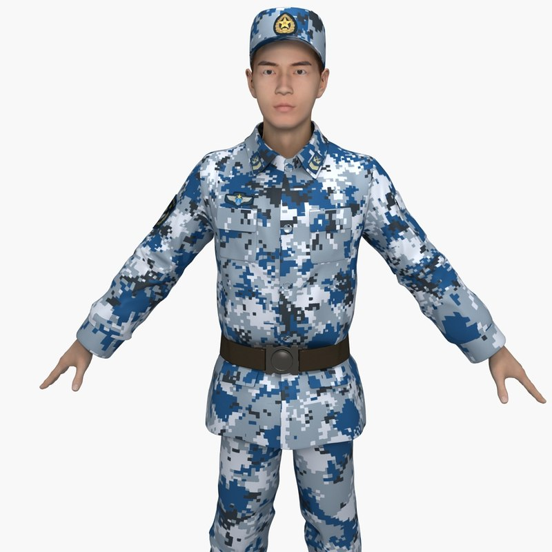 3D china air force soldiers