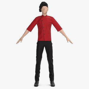 3D chef s uniform