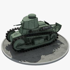 wwi ft-17 tank 3D model