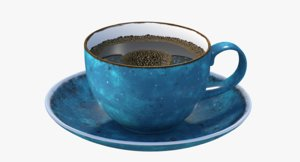 3D animation coffee cup