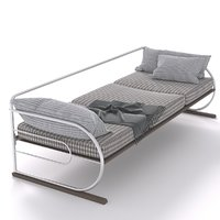 3D bauhaus bench pillow