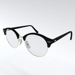 optic glasses 3D model