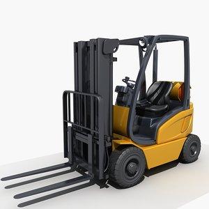 3D model forklift lift fork