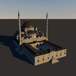 istanbul new mosque 3D model