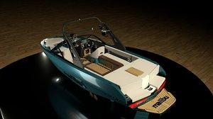3D malibu sport boat model