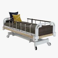 3D hospital bed model
