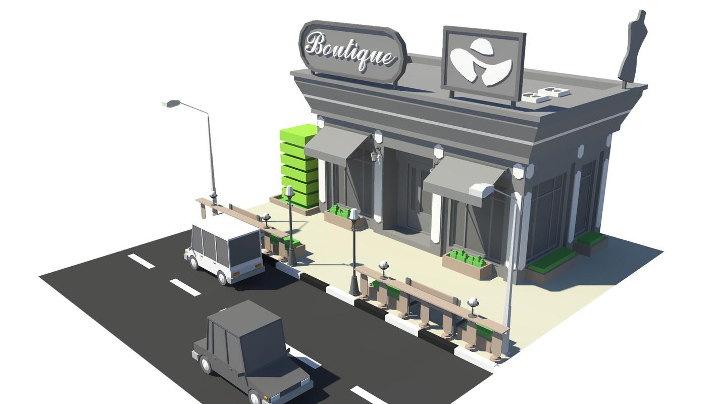3D boutique01 model