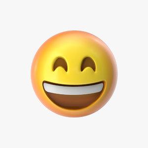 emoji 6 grinning face 3D