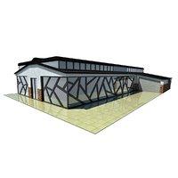 modern office building design 3D