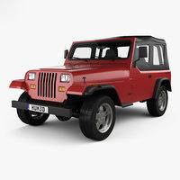 jeep wrangler yj 3D model