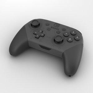 3D nintendo switch pro model