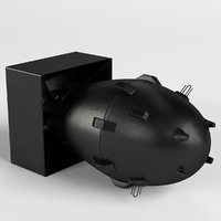 3D fat man nuclear bomb model